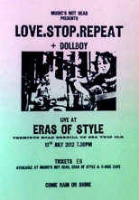 Love.Stop.Repeat gig at Eras of Style, 19 July 2012